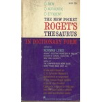 THE NEW POCKET ROGET'S THESAURUS IN DICTIONARY FORM