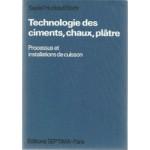 TECHNOLOGIE DES CIMENTS,CHAUX,PLATRE